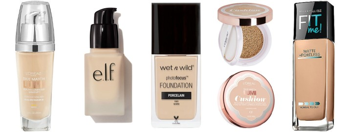 FACE BASE FOR LESS | The Best Drugstore Foundations